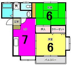 レスポワール鎌倉[101号室]の間取り