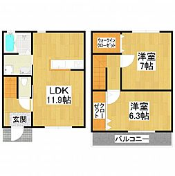 [テラスハウス] 大阪府堺市東区引野町2丁 の賃貸【/】の間取り