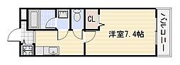 フジパレス水池[1階]の間取り