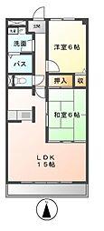 山ノ田マンション[2階]の間取り