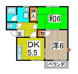 シーズ桜B[201号室]の間取り