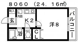 センターフィールドパートIII[305号室号室]の間取り