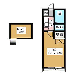 セラヴィ福室B[1階]の間取り