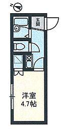 イル川崎大師[201号室]の間取り