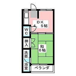 津金栄マンション[3階]の間取り