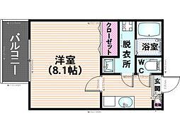サントピア須玖[202号室]の間取り