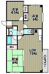 ロイヤルニレ[4階]の間取り
