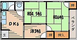 広島県安芸郡府中町浜田2丁目の賃貸アパートの間取り