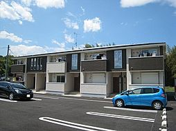 群馬県富岡市中高瀬の賃貸アパートの外観