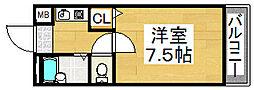 ハイツアズール[4階]の間取り