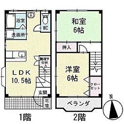 [タウンハウス] 愛知県岡崎市大西3丁目 の賃貸【/】の間取り