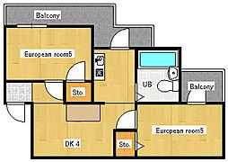 アメニティ大東[2階]の間取り
