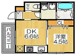 ラヴィータ堺東[1階]の間取り