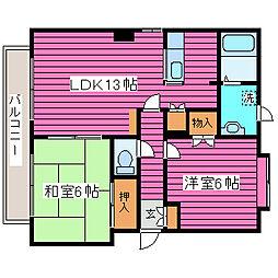 北海道札幌市北区百合が原4丁目の賃貸マンションの間取り