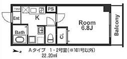 IF城北II[3階]の間取り