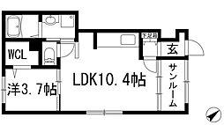 兵庫県伊丹市荒牧2丁目の賃貸アパートの間取り