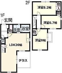 [一戸建] 愛知県名古屋市中川区南脇町2丁目 の賃貸【/】の間取り