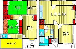 [一戸建] 千葉県松戸市幸田 の賃貸【/】の間取り