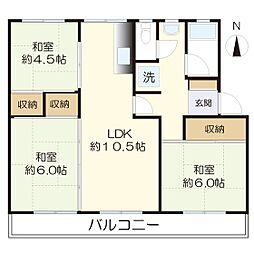 西三田団地6街区3号棟-506[506号室]の間取り