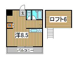 コートアネックスR-1[202号室]の間取り