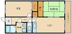マンション ウメノ[2階]の間取り