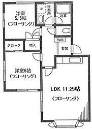 さちが丘ガーデンプレイスG棟104号室[1階]の間取り