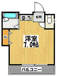 大阪府大阪市東成区神路2丁目の賃貸マンションの間取り