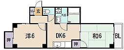 シティーハイツ本町[2階]の間取り