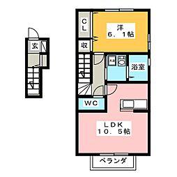 ノーブル ネサンス[2階]の間取り