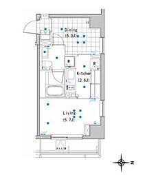アパートメンツ白金高輪[5階]の間取り