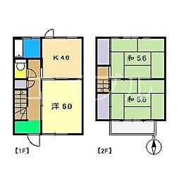 こまつ荘(南棟)[1階]の間取り