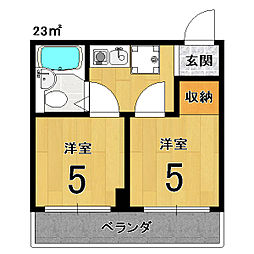 アメニティー京都2番館[8H号室]の間取り