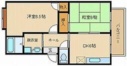 ファミリーズ21ハイツナカムラ1[1階]の間取り