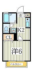 カーサKH[2階]の間取り