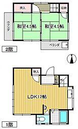 [一戸建] 埼玉県上尾市大字原市 の賃貸【/】の間取り