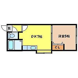 北海道札幌市東区北十五条東3丁目の賃貸アパートの間取り