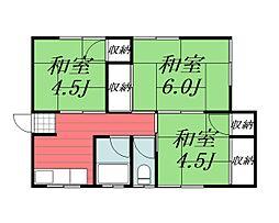 [一戸建] 千葉県千葉市稲毛区小深町 の賃貸【/】の間取り