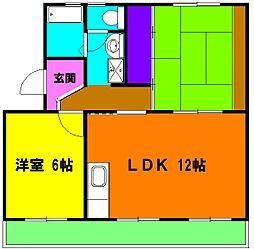 静岡県磐田市一言の賃貸マンションの間取り