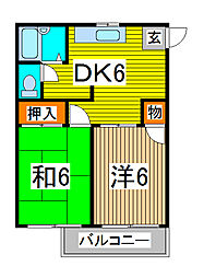 ファインハウスカミキII[2階]の間取り
