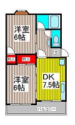塚越パークハイツ[1階]の間取り