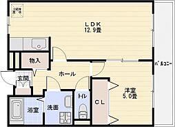 ヒルサイドスクエア[2階]の間取り