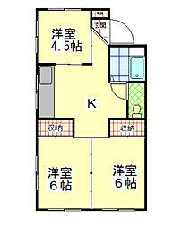 長野県飯田市本町4丁目の賃貸マンションの間取り