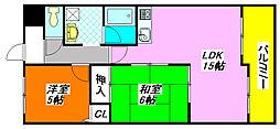 第5大原マンション 108号室[1階]の間取り