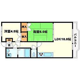 梅田プレミアムコート[5階]の間取り