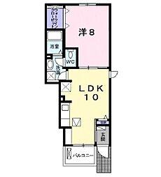 COCO新城[1階]の間取り