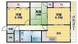 マジュールメゾン[6階]の間取り