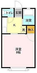 Kハイツ天台[2階]の間取り