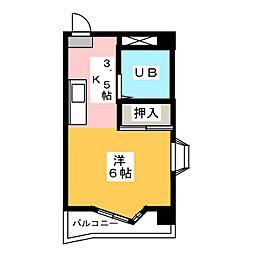 アールズコート第1[4階]の間取り