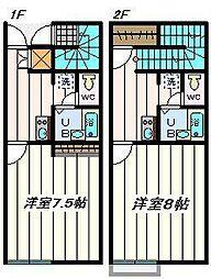 埼玉県さいたま市見沼区蓮沼五反田の賃貸アパートの間取り