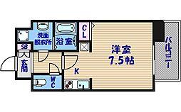 クレアートクラウン天王寺[4階]の間取り